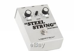 Vertex Effects Steel String Clean Drive Guitar Effects Pedal, Guitar and Bass