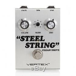 Vertex Steel String Clean Boost Guitar Effect Pedal