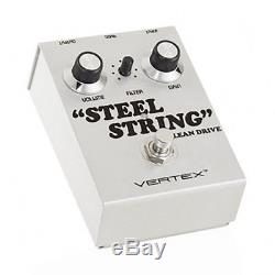 Vertex Steel String Clean Boost Guitar Effect Pedal Open Box