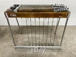 Vintage 70s MSA Classic XL Super Sustain Pedal Steel Guitar With Case