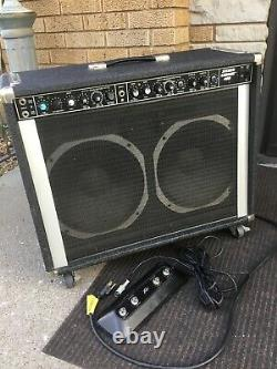 Vintage 80s Peavey USA Stereo Chorus 400 Combo Amp 2x12 Guitar or Pedal Steel
