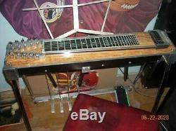 Vintage BMI S-10 Pedal Steel Guitar With Case Maple finish, Pac seat, Amp, Pedal