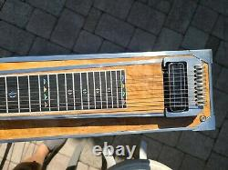 Vintage BMI S10 3X4 Pedal Steel Guitar withHard Case, Bar & More