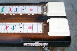 Vintage Harlin Brothers Multi Kord Double Neck Pedal Steel Guitar on Legs