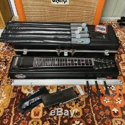 Vintage MSA The Red Baron 10 String Pedal Steel Electric Guitar Complete with OHSC