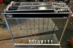 Vintage MSA pedal steel guitar! D-10, 8x5, NEW Split Cases