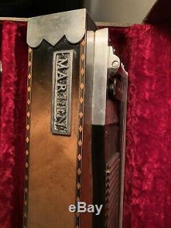 Vintage Marlen Steel Lap Guitar 8 String 5 Pedal Case Stand Complete Very Nice