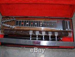 Vintage Sho Bud 10 String, 6 Pedal Steel Guitar with Hard Case and Accessories