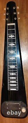 Vintage Valco Supro Black Lap Pedal Steel Electric Guitar Kluson Deluxe Tuner 57