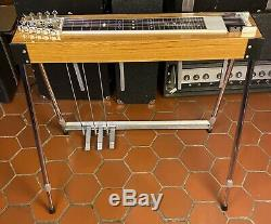 Zum Stage I Steel Guitar S-10 3 Pedals 4 Knee Levers Teak Wood